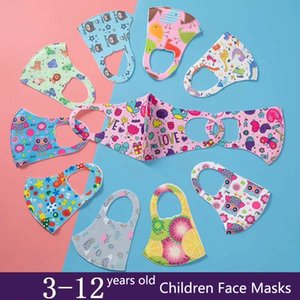 Designer Gesichtsmasken Kinder gedruckten Masken Kinder Cartoon Kinder Kind waschbar Pitta staub- Sonnenschutz täglich zivile Schutzmasken