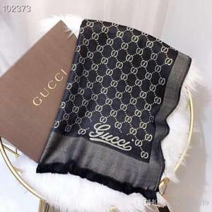 Nuovo modo di marca di 100% sciarpa di seta di lusso donne di disegno di lusso sciarpa elegante delle signore Wrap lunga sciarpe 180x70cm