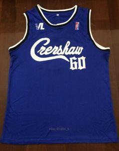 2020 erkek yeni Nipsey Hussle Crenshaw Zafer Lap kapak Basketbol Hip Hop rap Jersey Mavi basketbol forması gömlek boyutu S-XXL