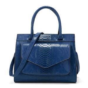 New Snakeskin Handbag Large Fashion Bag Simple Simple Shoulder Bag women leather handbags ladies hand bags women handbags