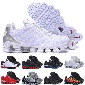 Nike Shox TL Top Qualité TL Hommes Chaussures De Course Respirant Sneakers Noir Blanc de marche en plein air sport chaussures R4 formateurs