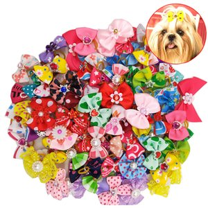DHL Dog Cat Bow Tie headband Hair Ties Hair band hair Cute Puppy Small Dog Bow Tie Pet Grooming Accessories Supplier
