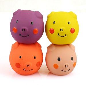 NOB-HoB 4PCS Squeak látex del gato animales de juguete divertido Establece mascotas Interactivo Juego de gato color clasificado