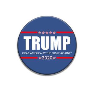 Donald Trump Broche Pins 2020 Amérique du Président Election Metal Badges Armband Broches rondes pour Coat Party Decoration Favor GGA3450-2