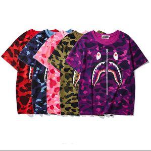 19SS Marca de verano @PE T-shirt para diseñador para hombre camisetas con estampado de camuflaje de manga corta transpirable hombres de lujo mujeres Tees Tops M-3XL
