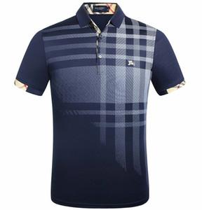 Diseño retro Nuevo Polo de los hombres de alta calidad BB bordado LOGO tamaño grande M-3XL manga corta de verano Casual de algodón camisas de polo para hombre