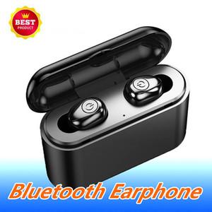 X8 TWS verdadeira Fone de ouvido Bluetooth 5D Wireless Stereo Earbuds Mini Headfrees impermeável com carregamento Box 2200mAh Power Bank