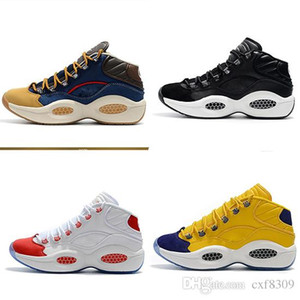 ГОРЯЧАЯ Вопрос Середина Q1 Баскетбол обувь обувь Аллен Айверсон Ответ 1S зум женихами управлением спортивной обуви класса люкс Elite Sport Sneakers EU40-46