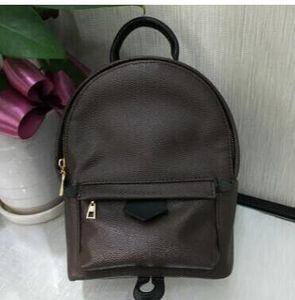 TOP PU Deri kaliteli Sırt Çantası Çanta Bayan Mini Sırt çantaları Moda Günlük Kadınlar Geri paketi Schoolbag Çanta 21x10x18cm