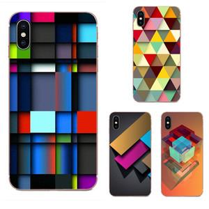 사용자 정의 다채로운 기하학 소프트 TPU 휴대 전화 케이스에 대한 화웨이 명예 메이트 노바 주 20 20 30 5 5I 5T (6) 7I 7C 8A 8 배 9 배 10 프로 라이트 플레이