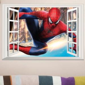 SPIDERMAN 3D Window Wall Stickers Niños Niños Nursery mural DIY del vinilo de la decoración