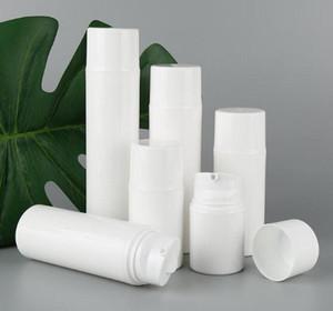 100pcs Kozmetik Kap için kullanılan 30 mi 50 mi 80 mi 100 mi 120 mi 150 beyaz PP havasız şişe vakum pompası şişesi