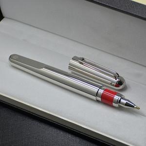 Sınırlı sayıda M serisi Manyetik kapatma kapağı dönerbaşlı kalem Dolma kalem Yüksek kaliteli Gümüş Kaplama Tasarım ofis okul malzemeleri ve Kol Düğmesi