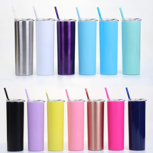 Stainless steel Vacuum Cup Bottle Cups Straw Vacuum Cup Straight Bottole Fashion Mug Coffee Bottles Beer Tumblers Winter Warm Bottles WY31Q