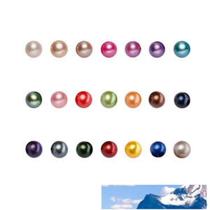 PERLES naturel Akoya ronde perles en vrac Cultured Oyster perles couleurs MIX