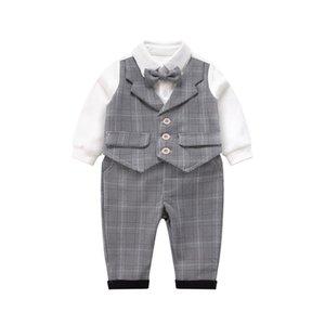 3-piece تناسب ملابس الطفل قطعة واحدة ربيع الرجل الجديد دعوى القطن مريح رومبير الوليد رومبير الحرم الجامعي نمط إنجلترا