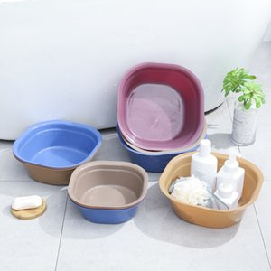 Nordic square thickened washbasin baby washbasin household plastic washing dish washing basin foot washing basin
