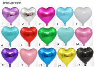 18inch Heart Shaped Aluminum Foil Balloon Valentine's Day Love Gift Wedding Birthday Party Decoration Balloons Festival Supply hot