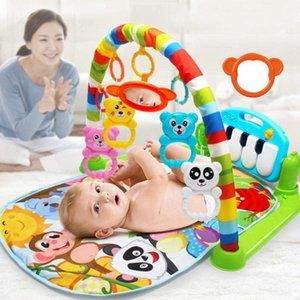 Mat jogar bebê Crianças Tapete colorido Musical Puzzle Educação tapete com teclado de piano e bonito Playmat Crawling Actividade Animal