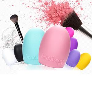 8 ألوان brushegg تنظيف قفاز ماكياج غسل فرشاة الغسيل مجلس التجميل brushegg سيليكون فرشاة التجميل البيض شحن مجاني