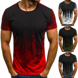Nouveau Designer Hommes De Sport Sport Fitnesst Shirt Camouflage T-shirt à manches courtes Personnalité D'été Impression T-shirt Tops Mâle
