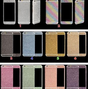 GOOD Luxurious Full Body Bling Diamond shiny Glitter Rainbow Front Back Sides Skin Sticker cover For 6 6G 6p 7 7plus X XR max