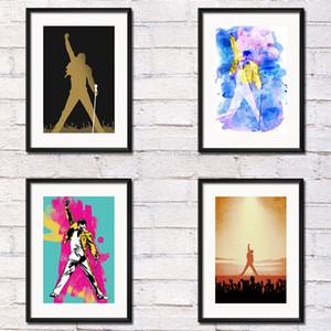Freddie Mercury Rainha Pintura lendário cantor Art Silk Canvas Poster Recados Home Decor