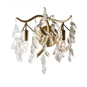 new Arrival crystal wall sconce gold wall lights Dia32*H30cm lustre living room bedroom lamp
