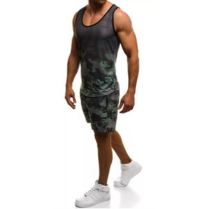 Sports Running Mens Designer Tracksuits Camouflage Printed 2 Piece Shorts Vest Summer Casual Pullover Sleeveless Top Fashion Mens Sportswear