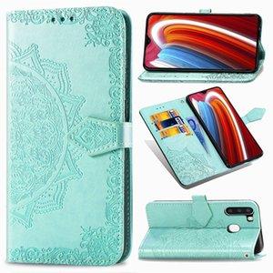 Mandala Flower Portefeuille en cuir pour Samsung A1 NOTE 20 Ultra de base M01 A21 A01 PRO MOTO G 5G PLUS ONE Hyper LG Q70 Support Dragonne Téléphone Couverture