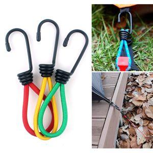 10 Teile / los Outdoor camping zelt elastische seil schnalle 15 cm feste bündel mit elastischen seil haken camping baldachin zubehör kordelzug