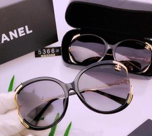 2019 neue weibliche polarisierte Sonnenbrille lässig neue Artgläser Textur Super Persönlichkeit mit Box voller Satz