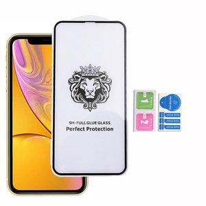 Para Iphone 11 MAX PRO SE 2020 iphone XS MAX XR Hauwei P40 E LITE Y9S Y7P Y6 Y6S 2020 Pantalla Cobertura completa Pegamento de cristal templado Protector