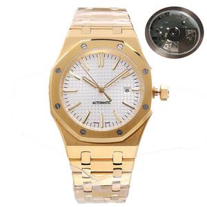 Dropshipping1-mens relógios japonês Miyota 8215 todo em aço inoxidável pulseira de relógio Rosegold automática de alta qualidade luminosa de safira relógio de pulso