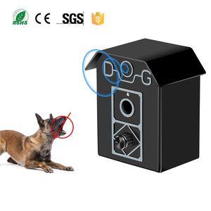 Dispositivo de Control de Corteza de Perro por Ultrasonidos Impermeable Al Aire Libre Controlador de Corteza de Perro Anti Bark Stop Repeller Silencio Adiestramiento de Perro Forma de la Casa