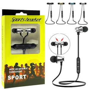 Sans fil Bluetooth écouteurs intra-auriculaires sport BT 4.2 casque stéréo casque magnétique de earbud avec micro pour téléphone intelligent avec le paquet