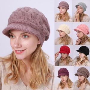 Frauen-Damen-Winter-warme Wollmütze Crochet Slouchy Baggy Peaked Beanie neueste Frauen-Art und Weise gestrickte Mützen Mützen