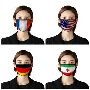 Yıkanabilir Yüz Ağız Maskeleri Ulusal Bayrak Karşıtı Tükürük Toz Kum Haze E19 7br Güneş Maske Mascherine Kanada ABD'yi 2 Maske yazdır
