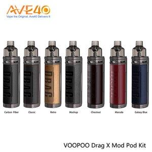 VOOPOO DRAG X 18650 Mod Pod Kit Capacidade 4.5 ml alimentado por uma única 18650 Bateria Com PnP Bobinas 100% Original