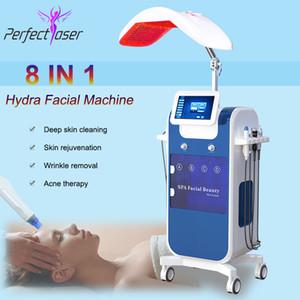 Hydro microdermabrasion hydraa الوجه الرعاية الجلد تطهير الماء Aqua Jet Oxygen Peeling سبا آلة Dermabrasion مع PDT LED