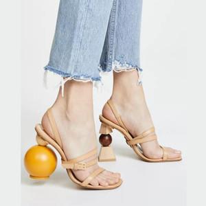 Señora del partido del baile de la danza sandalias zapatos para mujer de dedos de los pies zapatos con sandalias de tacón alto con los bloques de construcción de la nave libre