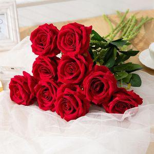 Valentine's Day Simulation Flower Wedding Holding Single Simulation Rose Art Flower Home Decoration Photography Props Romantic Rose