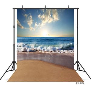 Fotografia Mar backdrops fundo da praia cenário do sol foto de pano crianças partido fundos estúdio de fotografia