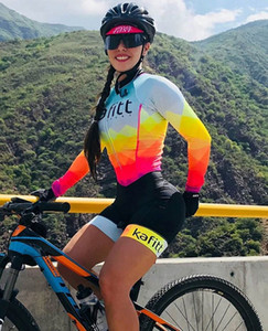2019 Pro Team Triathlon Suit Women's Cycling long sleeve Jersey Skinsuit Jumpsuit Maillot Cycling Ropa ciclismo set gel 006