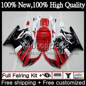HONDA CBR600 F3 CBR600RR F3 CBR600FS Için vücut Kırmızı siyah 95 96 47PG2 CBR 600F3 FS Kırmızı CBR600F3 CBR 600 F3 1995 1996 Fairing Karoser kiti