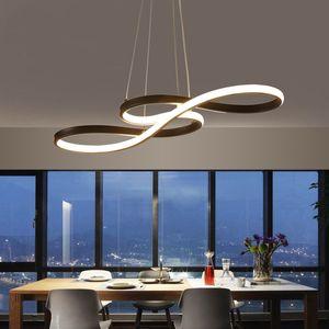 Minimalisme DIY Suspendus Moderne Led Pendentif Lumières Pour Salle À Manger Bar suspension luminaire suspendu Suspension Lampe Luminaire