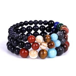Nouvelle arrivée 2019 Bracelet Lava Rock Perles Pierre Chakra Charme naturel Artesanat Essential Pierre huile Diffuseur perles chaîne pour les femmes hommes