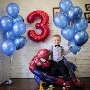 55x63CM 3D Spiderman Iron Man Batman Aluminium Foil ballons Hero party supplies Thème Ballon Birthday Party Décoration enfants cadeau Globos Jouets