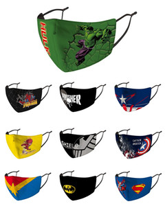 Masque Party masque de version ordinaire de Noël pour enfant adulte Avengers Marvel spiderman noir ironman captain america hulk Batman masque