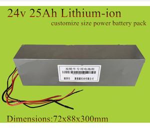 Bateria 24v 25AH lítio íon 24v 24ah li-ion bateria 24v 250w 350w 500w do motor 12v 36v 48v tamanho personaliza + carregador 2A